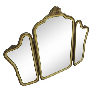 Art Deco Tri Fold Mirror