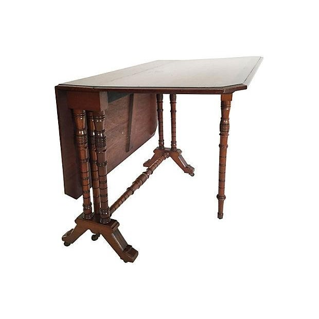 19th century gate leg table chairish for Table th width