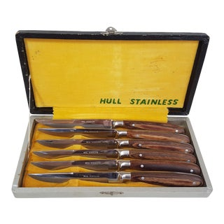 Hull Stainless Knife Set In Original Case - Set of 6