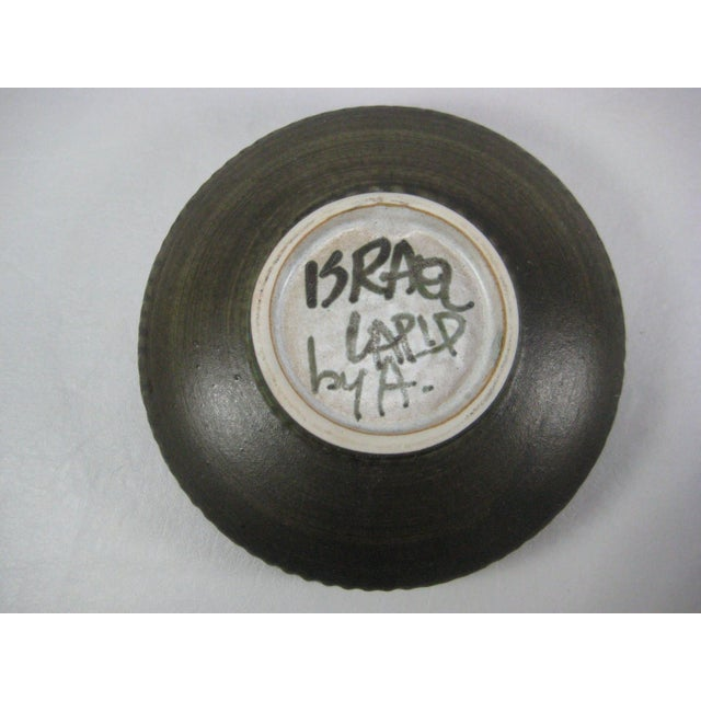 Image of Vintage 70s Israel Lapid Art Pottery Bowl