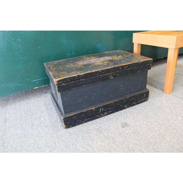 Antique Painted Craftsmen Tool Chest on Stand - Image 4 of 11