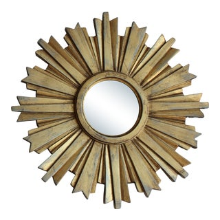Mid-Century Modern Mini Gold Starburst Mirror