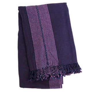 Purple Handwoven Guatemalan Blanket