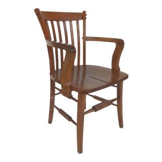 Antique Industrial Age Oak Desk Chair