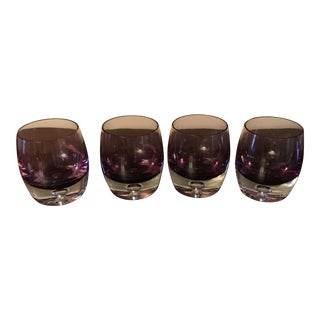 Four Amethyst Rocks Glasses