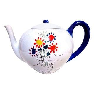 Modernist Picasso Flowers Tea Pot