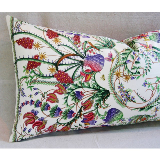 Designer Italian Gucci Floral Fanni Silk Pillow - Image 4 of 11