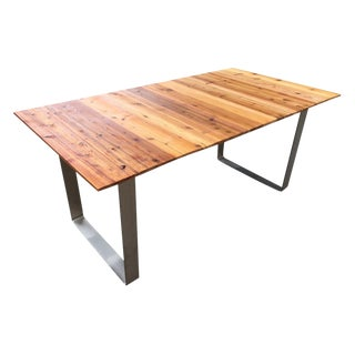 Reclaimed Cedar and Steel Dining Table