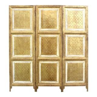 Vintage 3-Panel Florentine Screen Divider - Italian Screen Divider