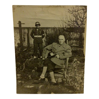 """Circa 1940 Vintage Black & White """"Von Rippentrop"""" WWII Photograph"""