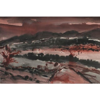 Abstracted Crimson Landscape, 1981