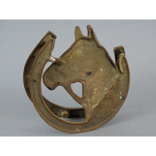 Equestrian brass horse door knocker chairish - Horse door knocker ...