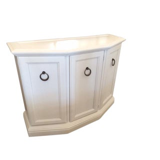Vintage Hollywood Regency White Foyer Cabinet