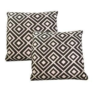 Sarreid Ltd. Lola Diamond Black Pillows - a Pair