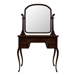 Antique Art Nouveau Style Mahogany Vanity Dressing Table