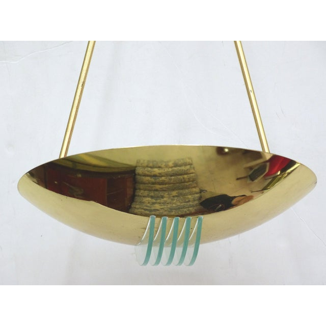Image of 1960's Vintage Stilnovo Brass & Glass Pendant Light