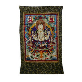 Embroidery Tibetan Tara Buddha Thangka Art