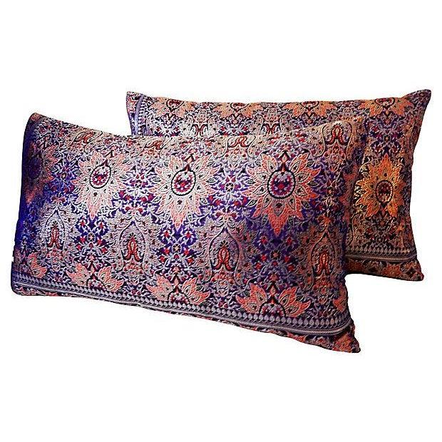 Image of Lumbar Thai Silk Pillows, S/2