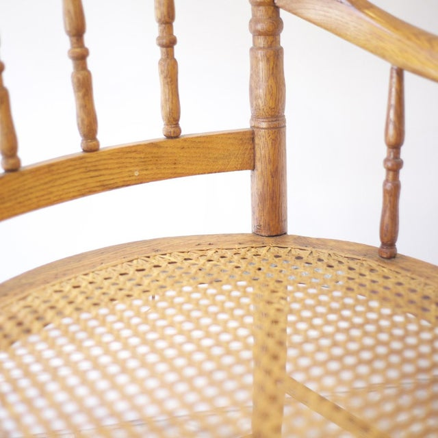 Cane Arm Chairs - a Pair - Image 4 of 4