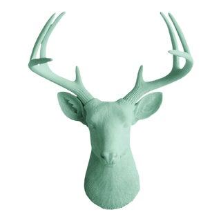 Mint Green Faux Head Mount Bust Deer Head by Wall Charmers