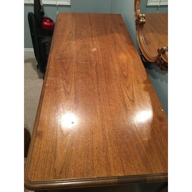 Traditional Long Wooden Dresser & Mirror | Chairish