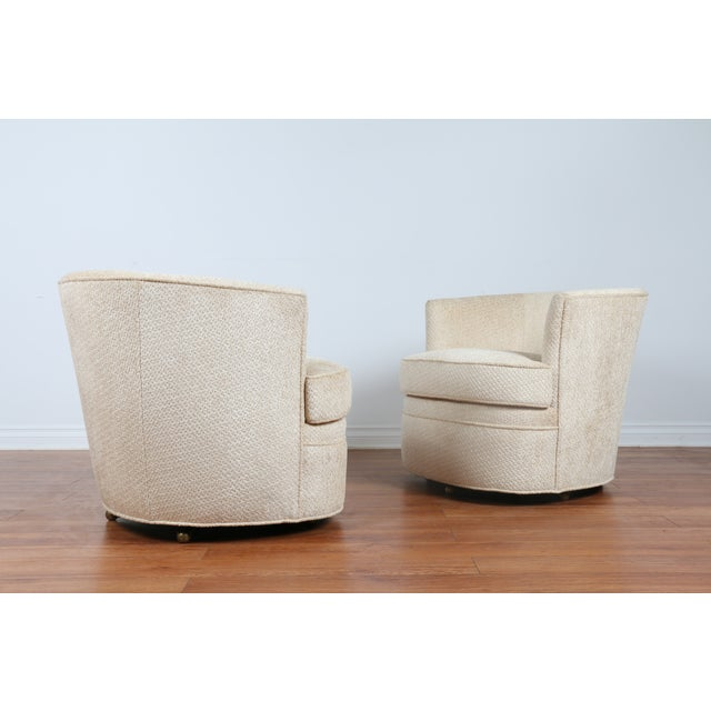 Image of Swivel Vintage Beautiful Chairs - Pair