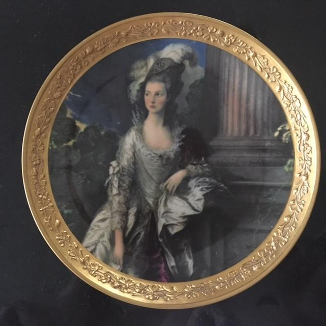 "Image of Gorham Fine China Plate ""The Honorable Mrs. Graham"""