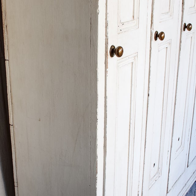 Image of Antique White Distressed Schoolhouse Lockers