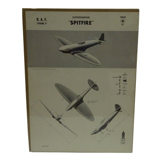 "Vintage WWII Aircraft ""Spitfire"" Recognition Poster"