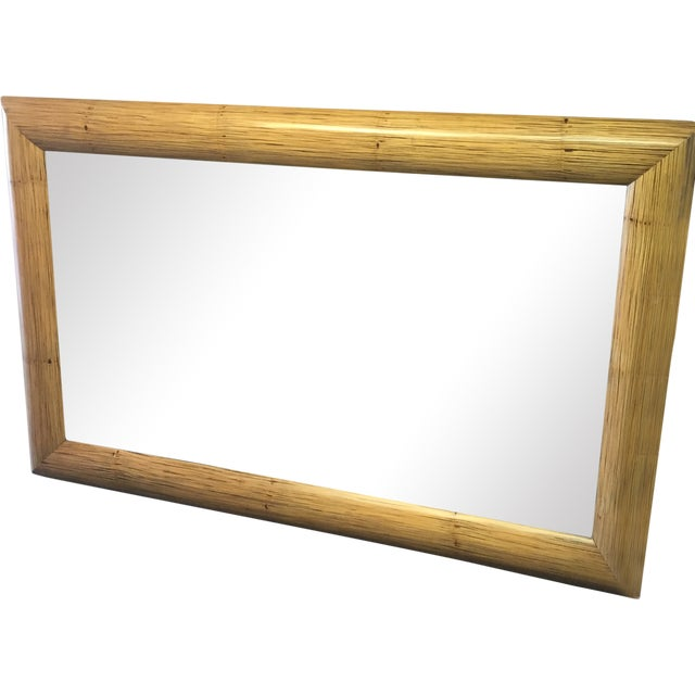 New Crushed Bamboo Floor Mirror - Image 1 of 8