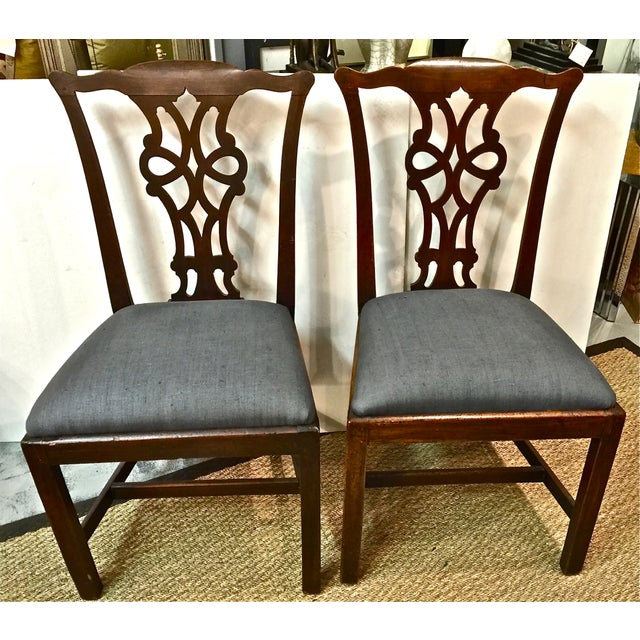 Antique 18th C. Georgian Side Chairs - A Pair - Image 2 of 7