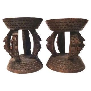 Malian Dogon Milk Stools - A Pair