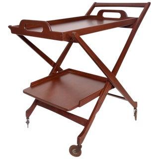 Mid-Century Modern Folding Service Cart