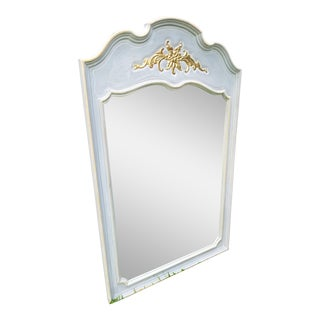 French Style Mirror With Gold Gilding Detail