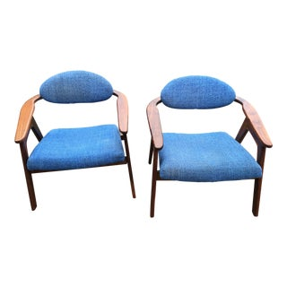 Pair of Mid-Century Modern Adrian Pearsall Captians' Chairs