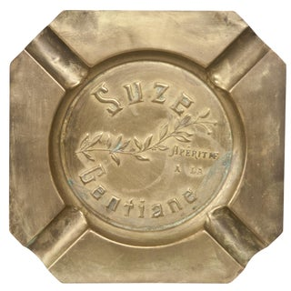 Vintage French Brass Suze Ashtray
