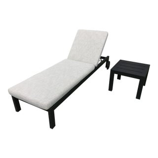 Restoration Hardware Aegean Chaise Lounge + Table Set