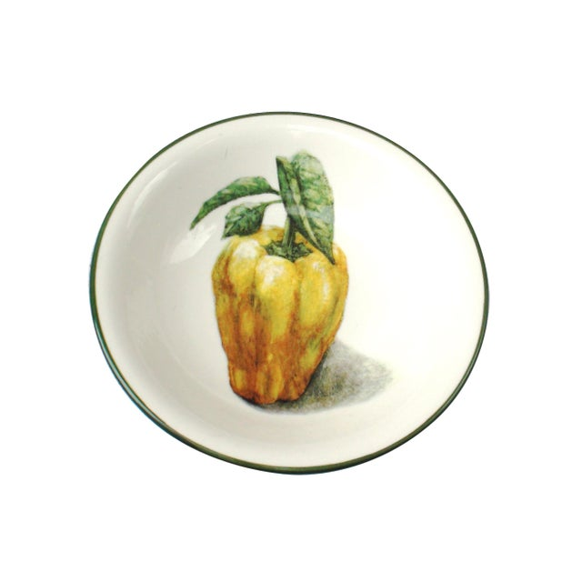Handpainted Italian Vegetable Bowls - A Pair - Image 2 of 4