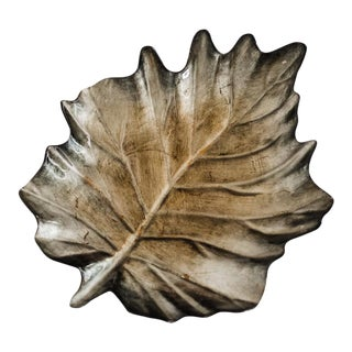 Reverse-Painted Glass Leaf Tray (Large)