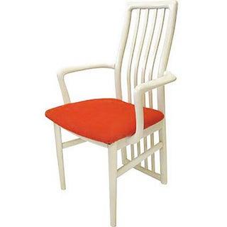 Danish Modern White Lacquer Armchair
