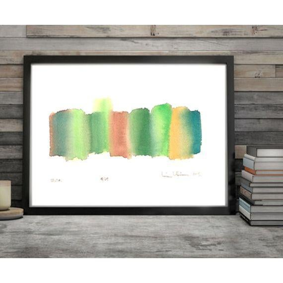 'Delta' Original Abstract Watercolor Painting - Image 3 of 4