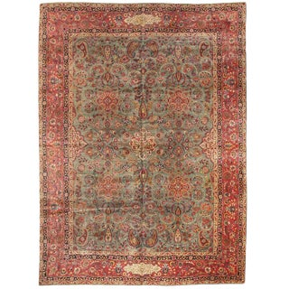Exceptional Antique Kashan Carpet