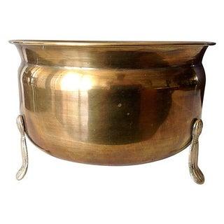 Brass 3-Legged Tassel Footed Cachepot
