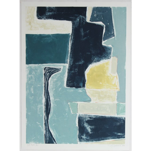 "Rob Delamater ""Blue Note VI"" 2016 Monotype - Image 2 of 2"