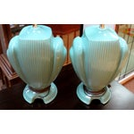 Image of Hollywood Regency Mint Lamps - A Pair