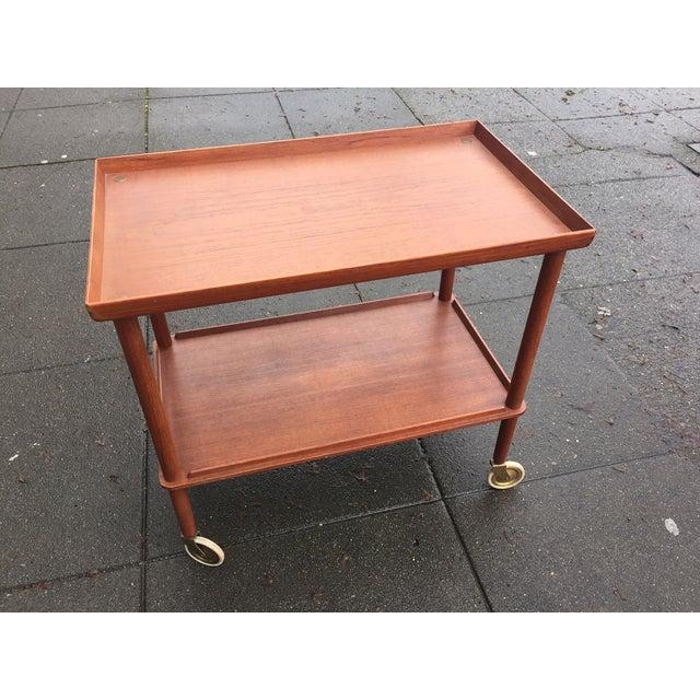 Image of Danish Modern Teak Bar Cart