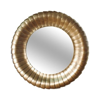 Large Round Gold Gilt Mantel Mirror