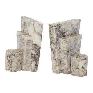 Modern Italian Alabaster Bookends