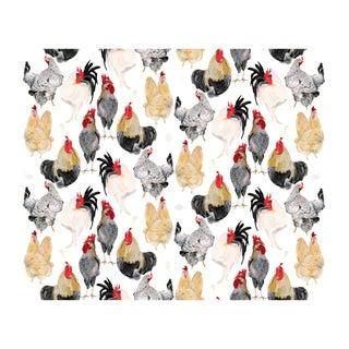 Voutsa Wallpaper - Cocks on White