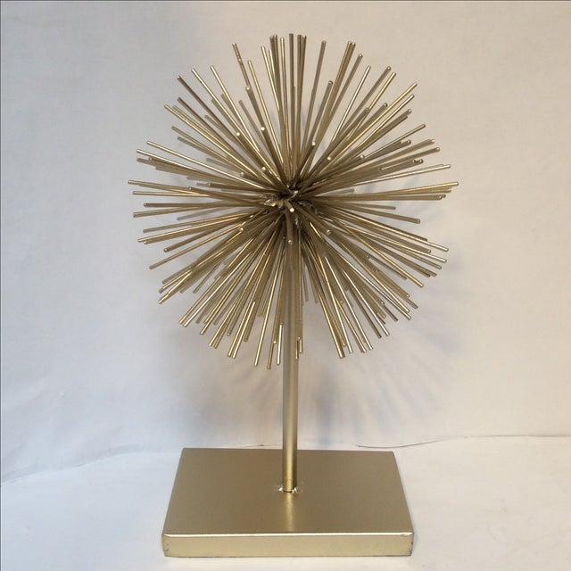 Gold Star Burst on Stand - Image 3 of 6